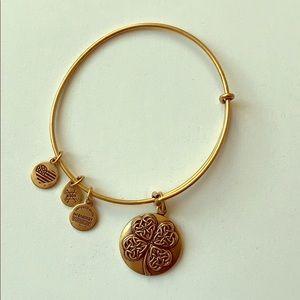 ALEX AND ANI Irish Clover gold Bracelet